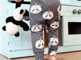Grijs broekje met panda's