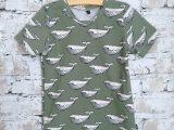 Groen tshirt met walvisjes
