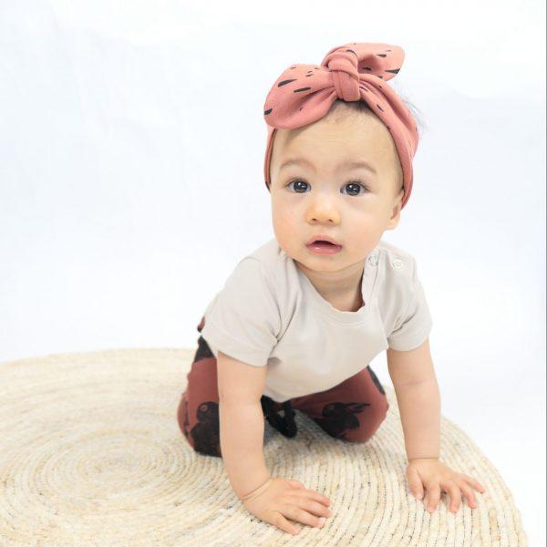 Baby knoophaarbandje babyhaarband organic biologische stof