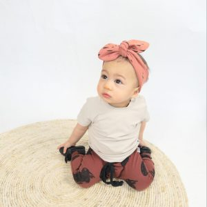 Baby tshirt babyhaarband organic biologische stof